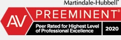 Martindale-Hubbell | Peer Rated for High Professional Excellence | 2020
